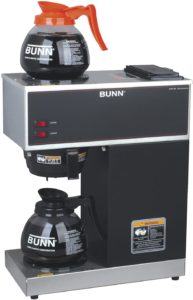 bunn vpr 2gd 12 cup pourover commercial coffee brewer