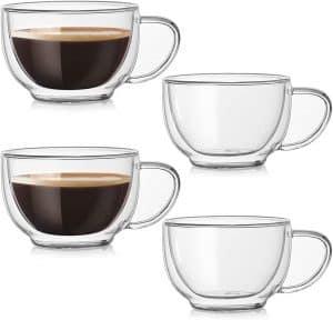 DeeCoo Double Wall Cappuccino Glass Mugs