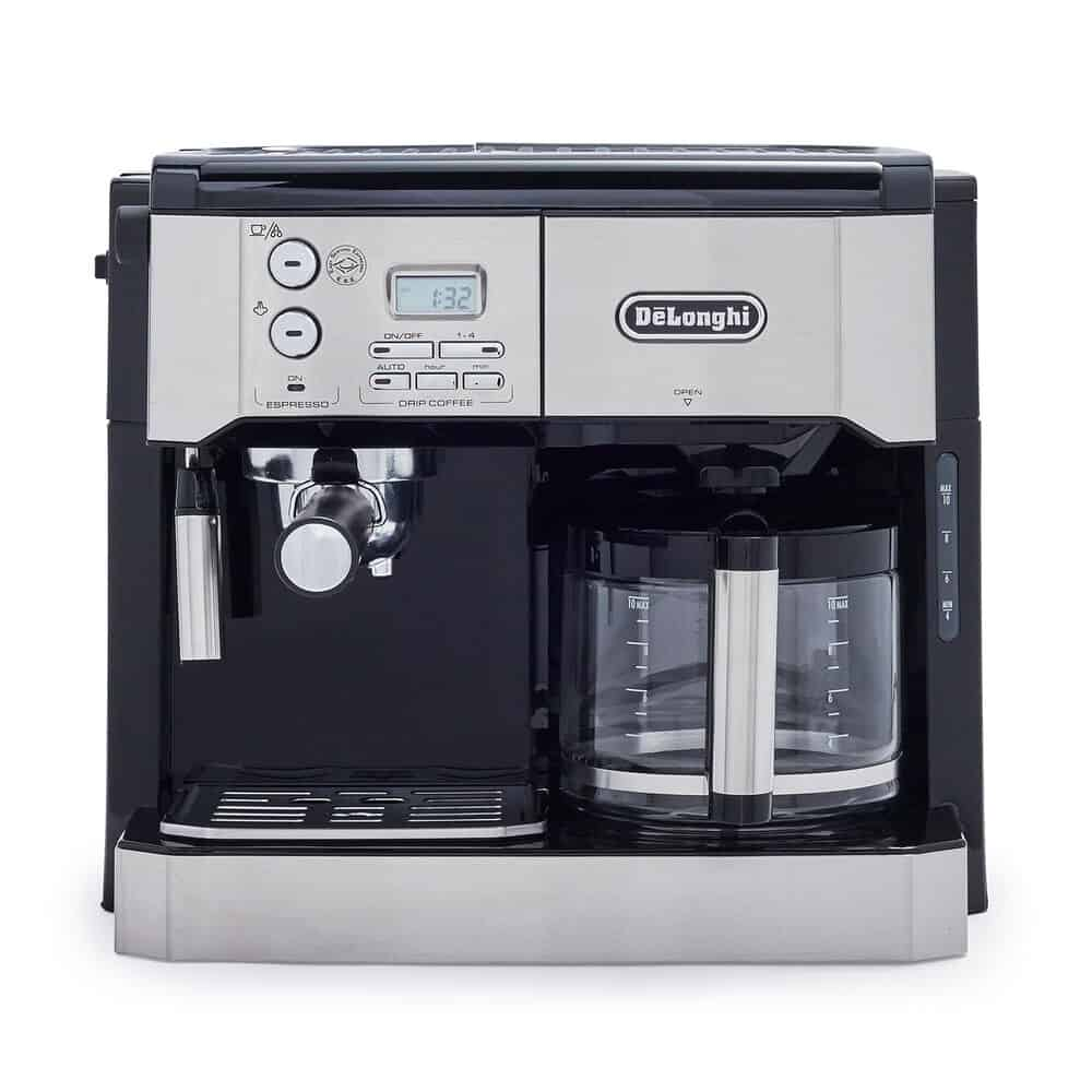 delonghi combination pump espresso and 10 cup drip coffee machine with advanced cappuccino system