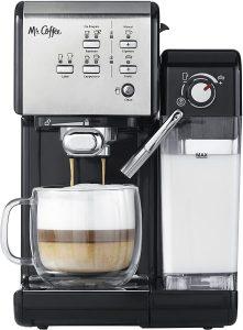 mr coffee one-touch coffee house espresso cappuccino maker