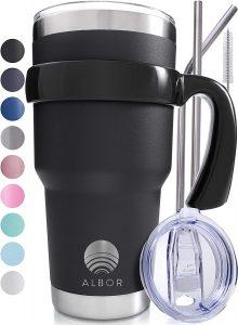 albor travel mug stainless steel