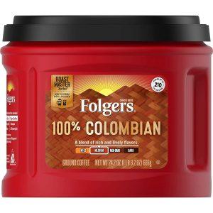folgers 100 percent colombian coffee