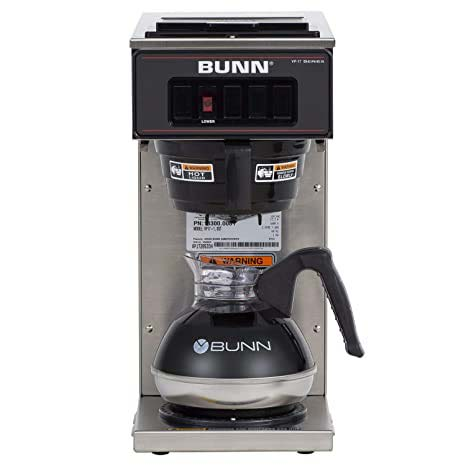 BUNN VP17-1SS Pour-Over Coffee Brewer with 1 Warmer Stainless Steel
