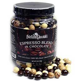 dilettante espresso beans with chocolate