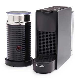 nespresso essenza mini espresso machine by breville with eroccino 3 frother