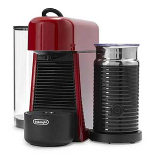 nespresso essenza plus by delonghi with aeroccino 3 frother