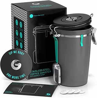 coffee gator stainless steel canister