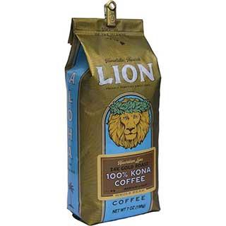 hawaiian lion 24k gold roast kona