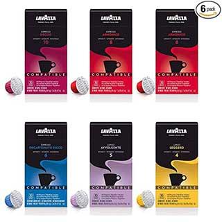 lavazza espresso capsules nespresso original machine compatible