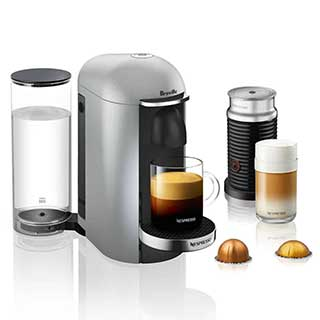 nespresso vertuoplus deluxe by breville with aeroccino 3 frother