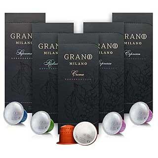 50 Grano Milano Coffee Capsules | Compatible with Nespresso OriginalLine