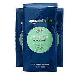 AmazonFresh Organic Fair Trade Sumatra Ground Coffee
