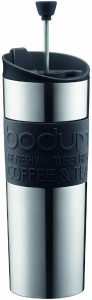 Bodum Travel Press, Stainless Steel Travel Coffee and Tea Press, 15 Ounce
