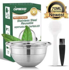 Capmesso Coffee Capsule Stainless Steel Reusable Coffee Pod for Espresso Nespresso