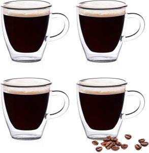 Eparé Espresso Glasses - Double Walled Demitasse Cups
