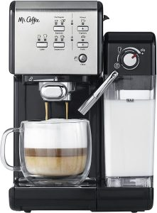 Mr Coffee One Touch CoffeeHouse Espresso Maker and Cappuccino Machine