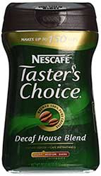 Nescafe Taster's Choice, 100% Pure Instant Coffee Decaffeinated