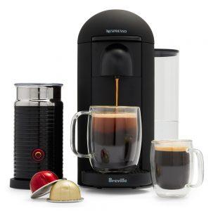 Nespresso Vertuoplus by Breville With Aerocciono 3 Matte Black