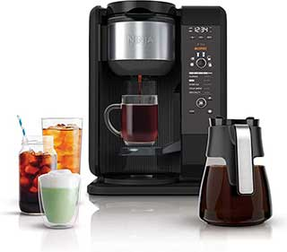 Ninja Hot and Cold Brewed System Auto IQ Coffee and Tea Maker with 6 Brew Sizes