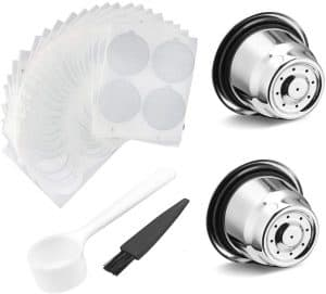 Refillable Coffee Capsules Cup Stainless Steel Nespresso Pods Compatible with Nespresso Machines