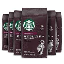 Starbucks Dark Roast Whole Bean Coffee - Sumatra
