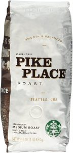 Starbucks Pike Place Roast Whole Bean Coffee