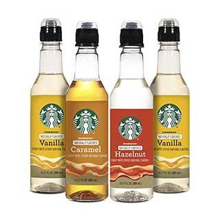 Starbucks Variety Syrup 4-Pack, 12.20 Ounces