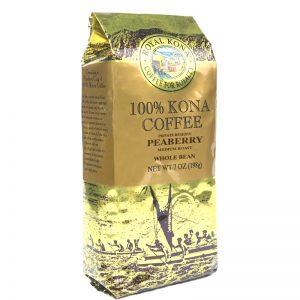 Whole Bean Peaberry Medium Roast 100% Kona Coffee